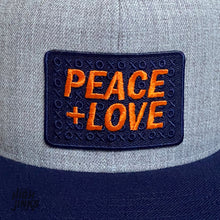 Load image into Gallery viewer, Peace + Love : Flat Brim Cap
