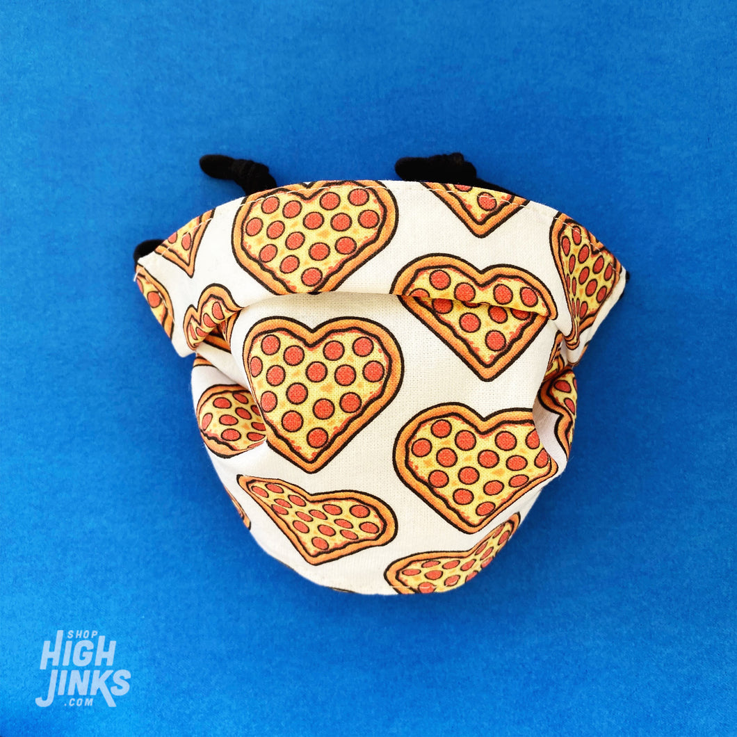 100% Cotton Washable KIDS Face Mask : Pizza Lover
