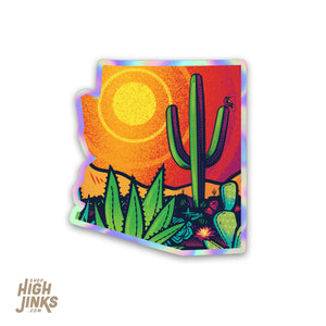 "Pop Desert : 3"" Holographic Detailed Vinyl Sticker"