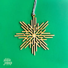 Load image into Gallery viewer, Saguaro Snowflake Holiday Ornament