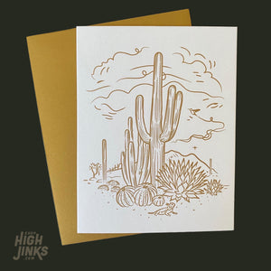Sketchy Desert : Letterpress Card