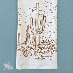 Sketchy Desert : Tea Towel