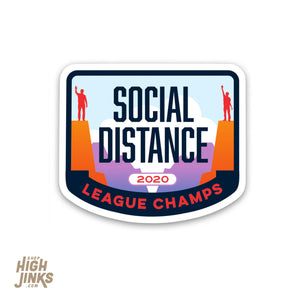 "Social Distance Champion : 3"" Vinyl Sticker"