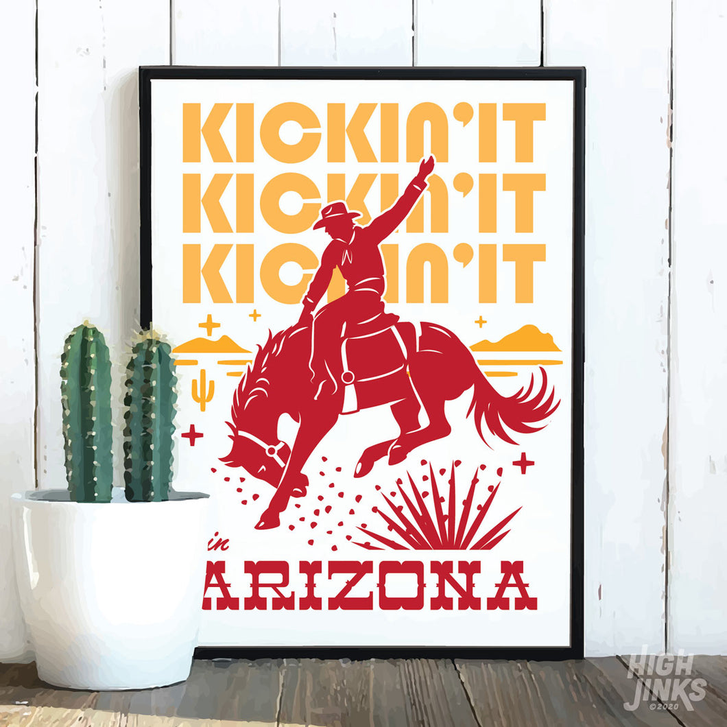 Kickin' It in Arizona : 8x10 Giclée Print