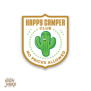 "Happy Camper Club : 2.75"" High Gloss Vinyl Sticker"