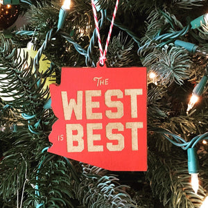 West is Best: Christmas Ornament