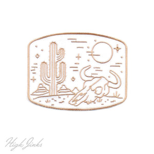 Desert Dusk : Embroidered Patch