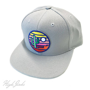Stained Glass Sunset : Flat Brim Cap