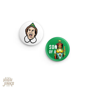 Son of a Nutcracker Pinback Button Set: 1.25""
