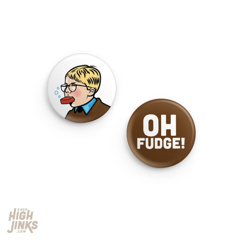 Oh Fudge Pinback Button Set: 1.25
