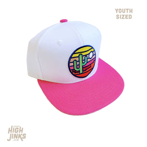 Stained Glass Sunset : KIDS Flat Brim Hat