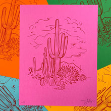 Load image into Gallery viewer, Sketchy Desert : 8.5x11 Screenprint