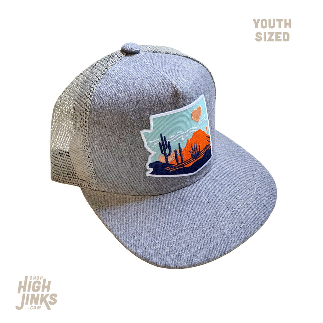 Heart of the Desert : KIDS Flat Brim Trucker Hat