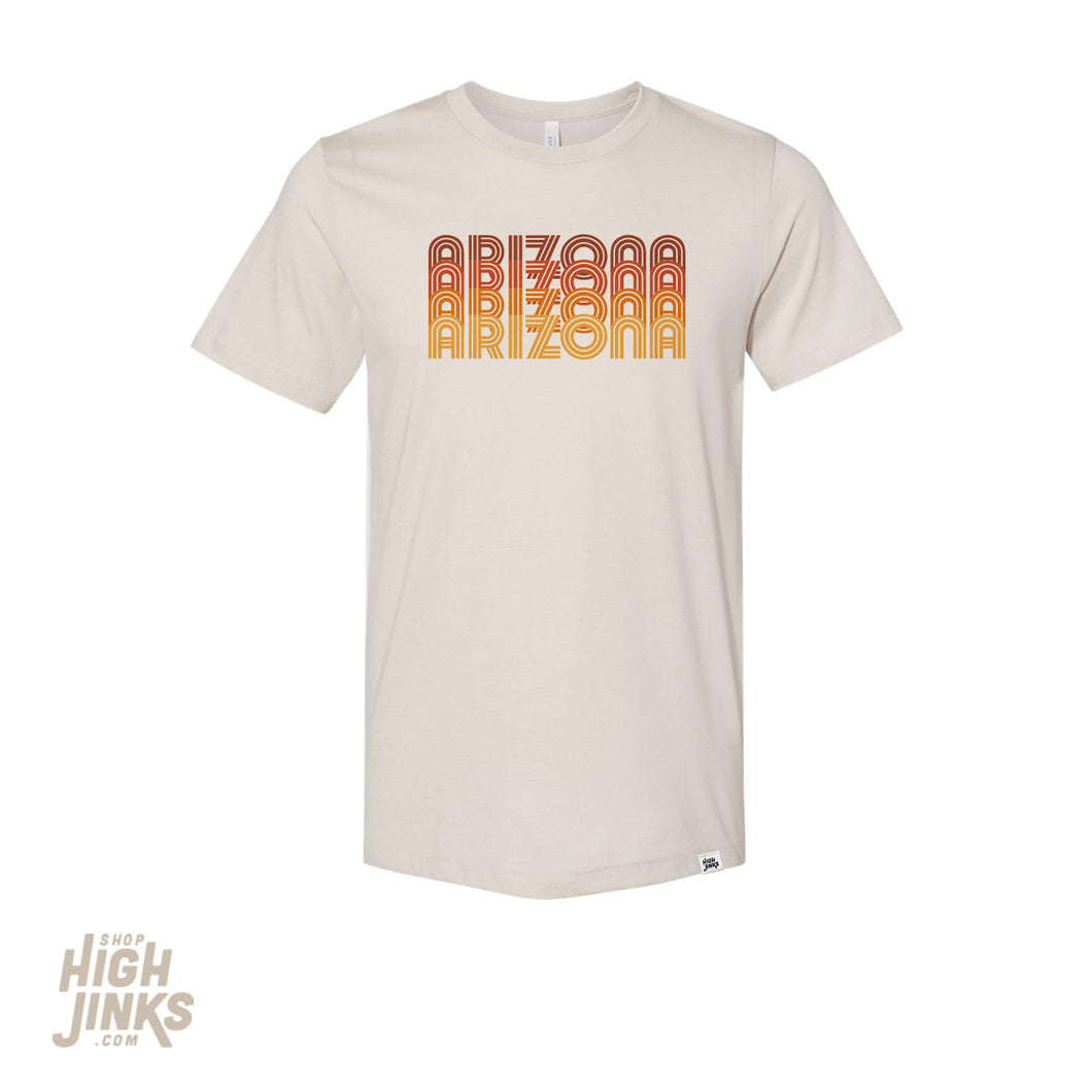 Arizona Stacked : Crew Neck T-Shirt