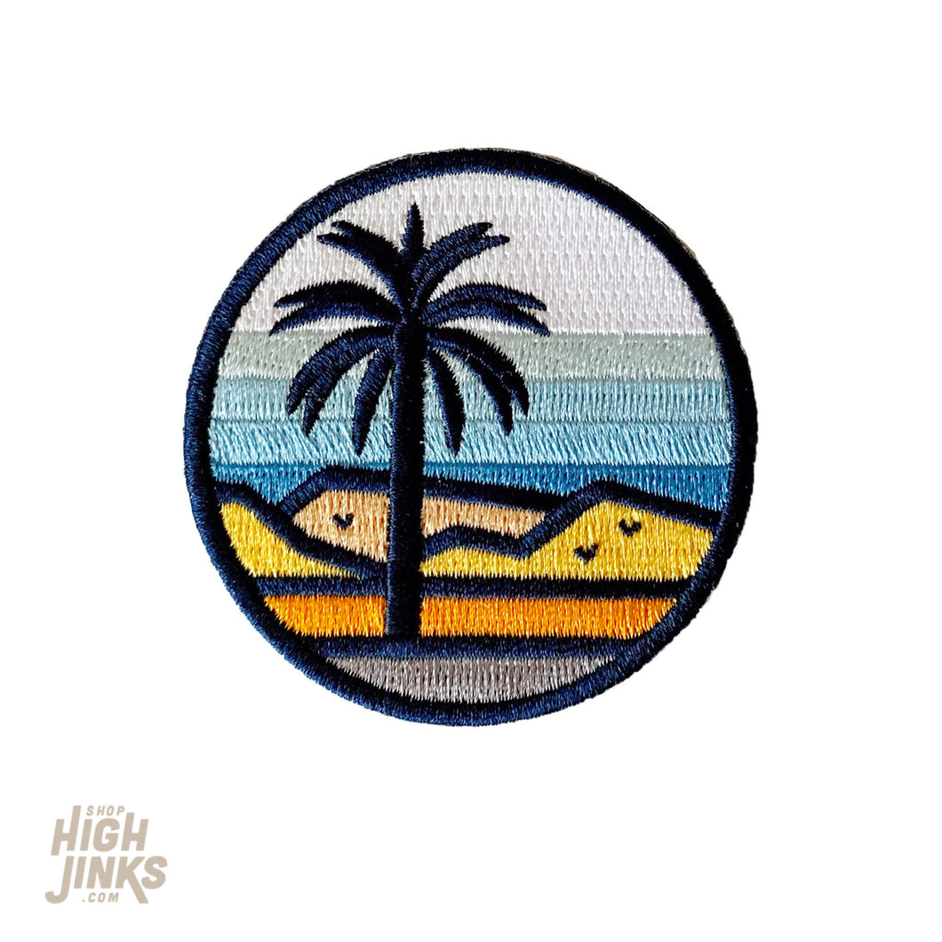 Stained Glass Desert Palms : Embroidered Patch