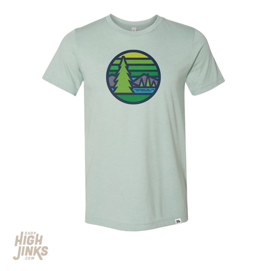 Northern Pines : Adult Crew Neck T-Shirt