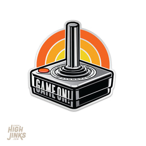 "Game On Atari Joystick : 3"" Vinyl Sticker"