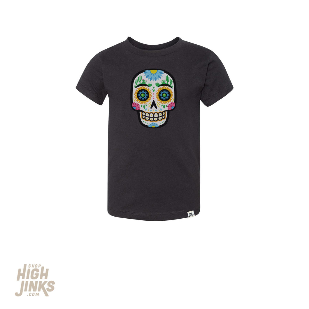 Desert Sugar Skull : Kid's Unisex Soft Blend T-Shirt