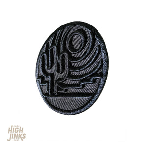 Desert Silhouette : Sculpted Embroidered Patch