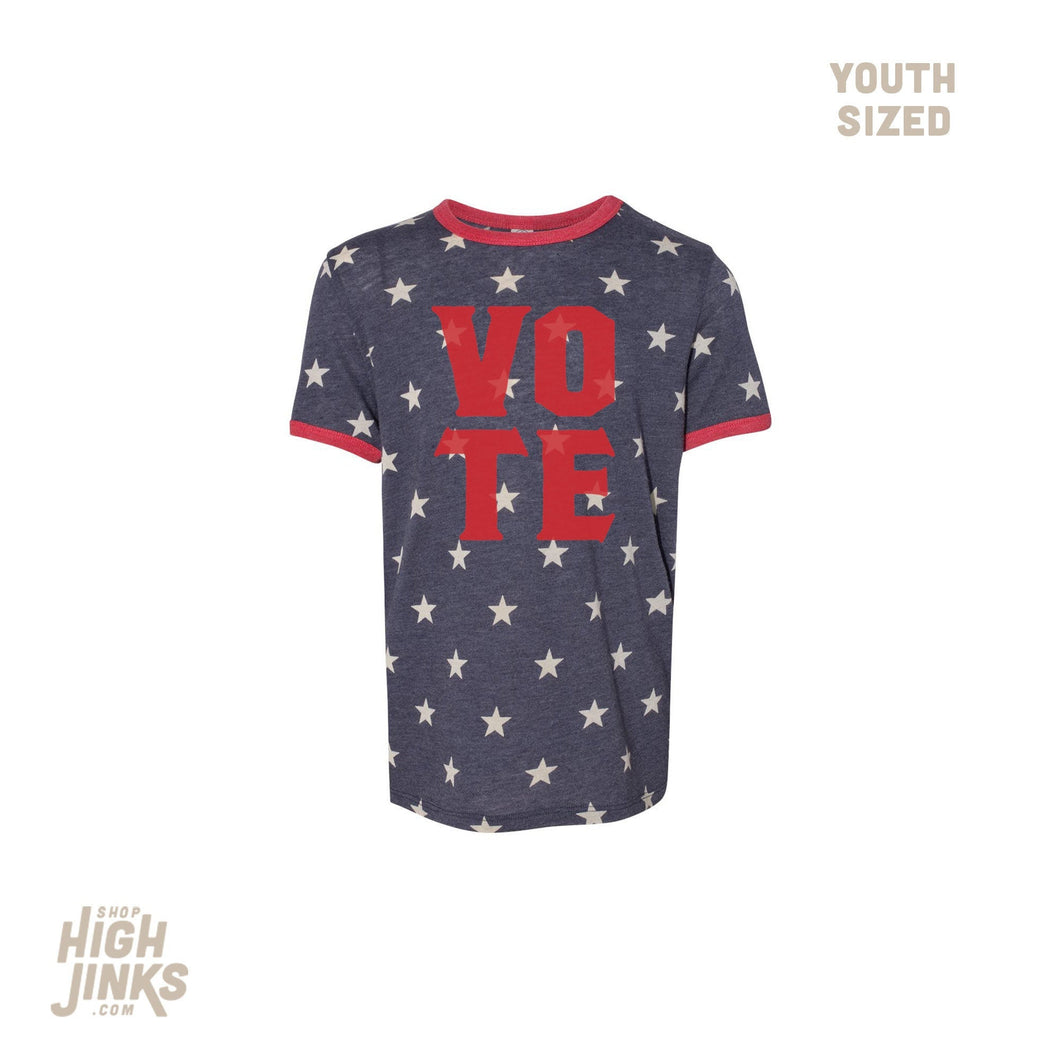 VOTE: Youth Unisex Ringer T-Shirt