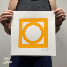 Load image into Gallery viewer, Circle Mod Block : 12x12 Screenprint