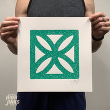 Load image into Gallery viewer, Flower Mod Block : 12x12 Screenprint
