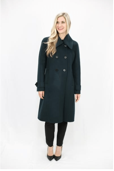 Black Onyx Merino Wool Coat - LEONA LEEDF Coat