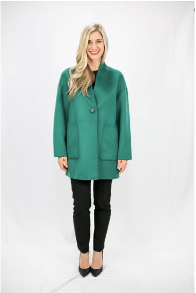 Ivy Green Luxury Wool & Cashmere Jacket - LEONA LEEDF Jacket