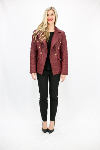 Quilted Leather Jacket - LEONA LEEPuffer