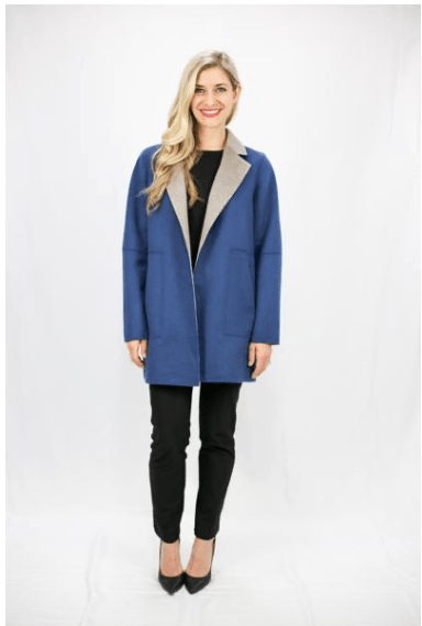 Two Tone Luxury Wool Jacket - LEONA LEEDF Jacket