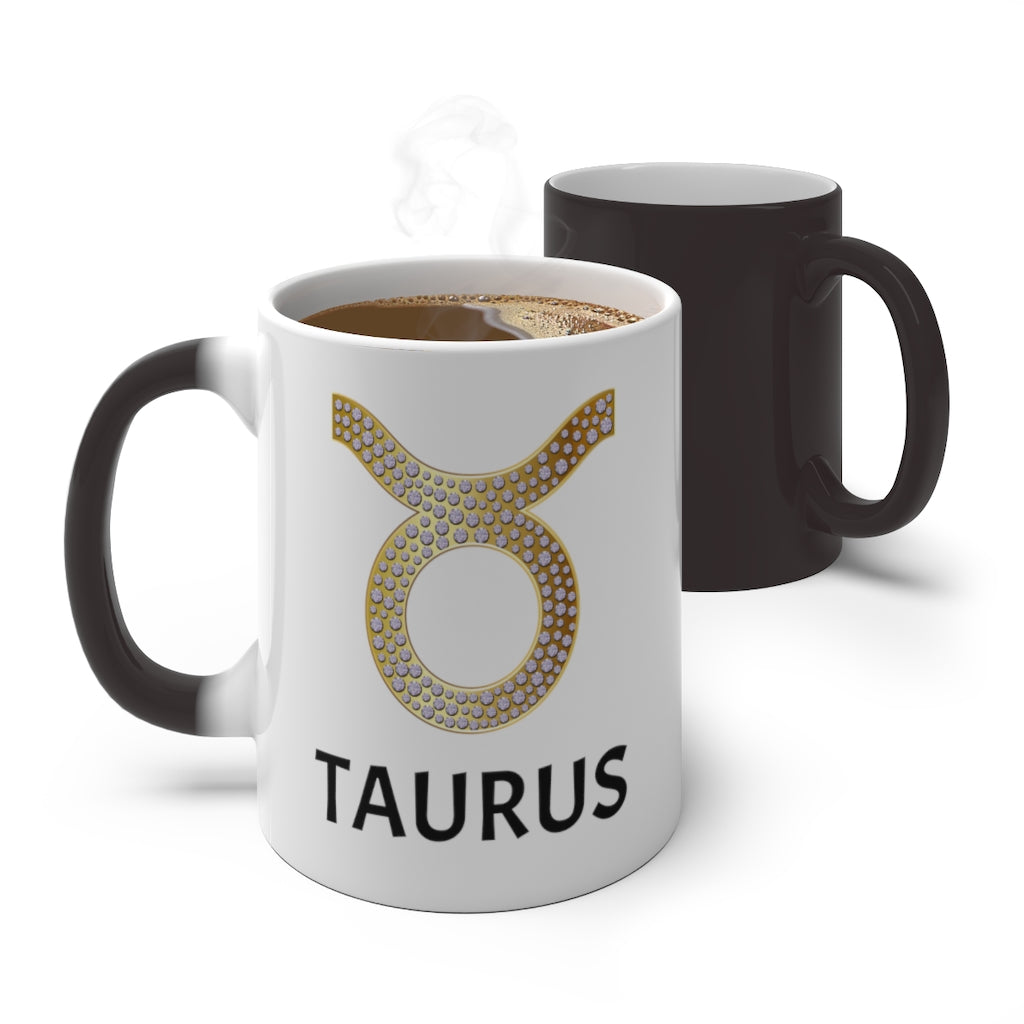 'KNOW WEAR'™ TAURUS MAGICAL MUG (GOLD)