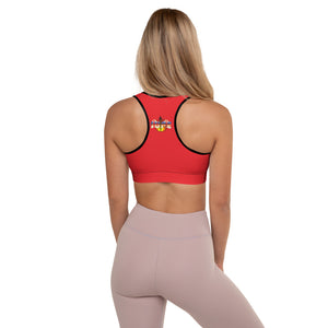 KNOW WEAR™ JUPE™ RED Padded Sports Bra