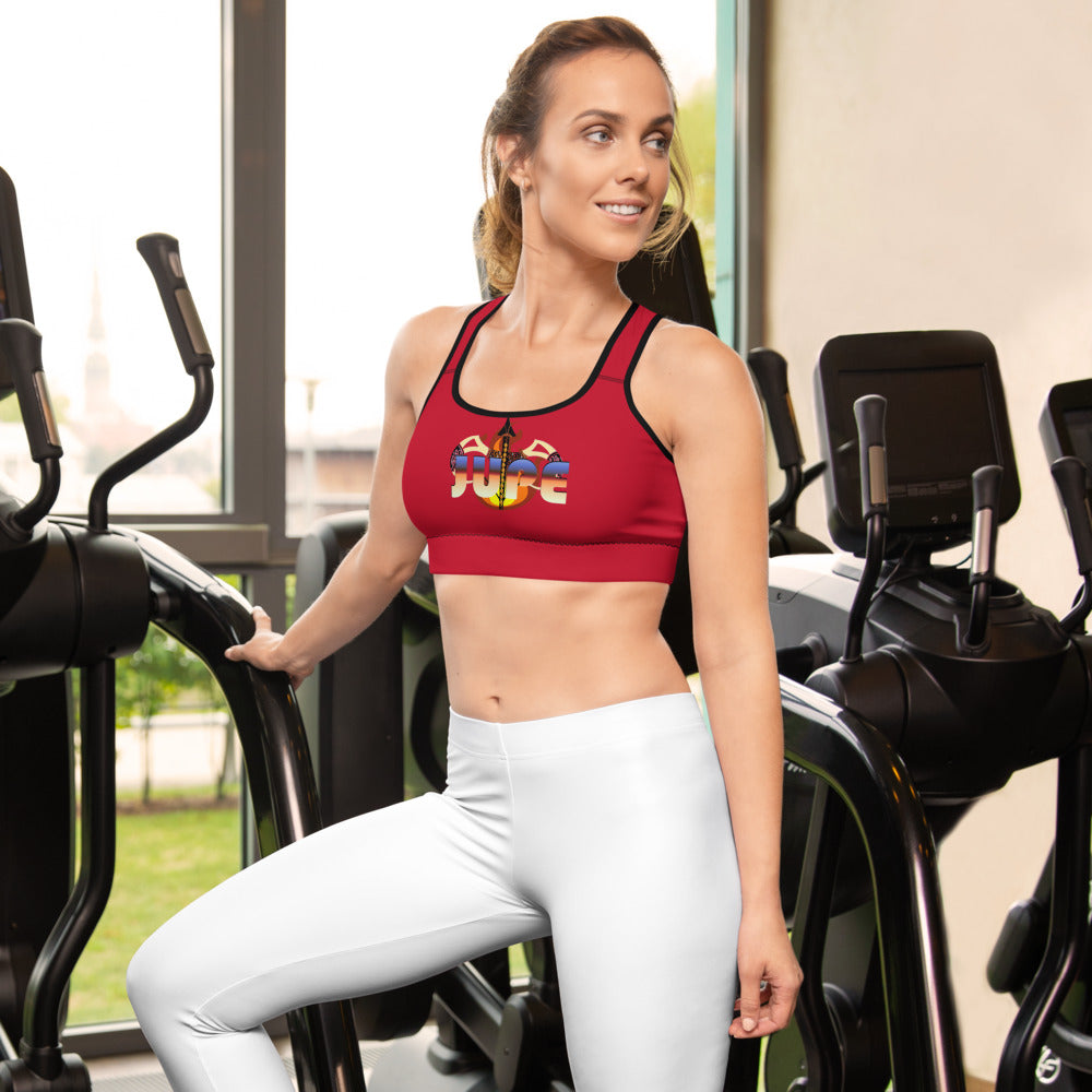 KNOW WEAR™ RED 1 JUPE™ Padded Sports Bra