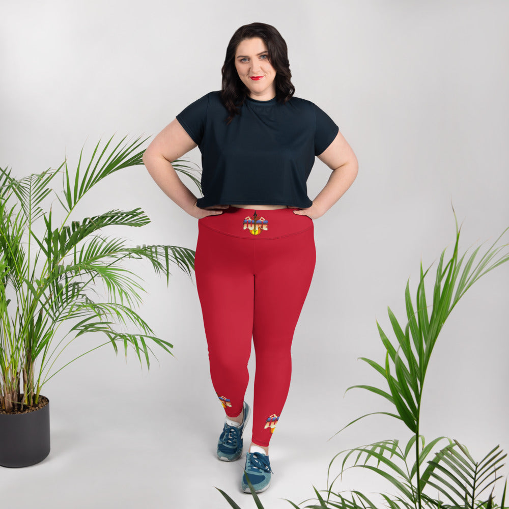 KNOW WEAR™ Plus Size Red JUPE™ Leggings