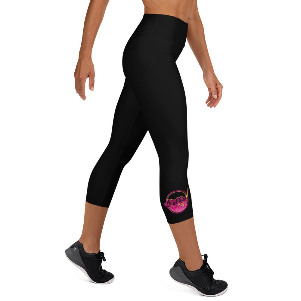 Black Girl Magic 36FIVE Yoga Capri Leggings