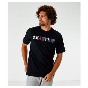 Polo para Hombre CHAMPION HERITAGE TEE - OLD ENGLISH LETTERING BKC