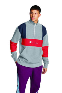 Polera para Hombre CHAMPION RW COLORBLOCKED 1/4 ZIP POP OVER 8+D