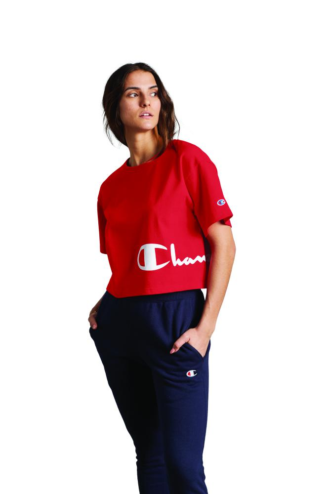 Polo para Mujer CHAMPION HERITAGE CROPPED TEE - GRAPHIC 040