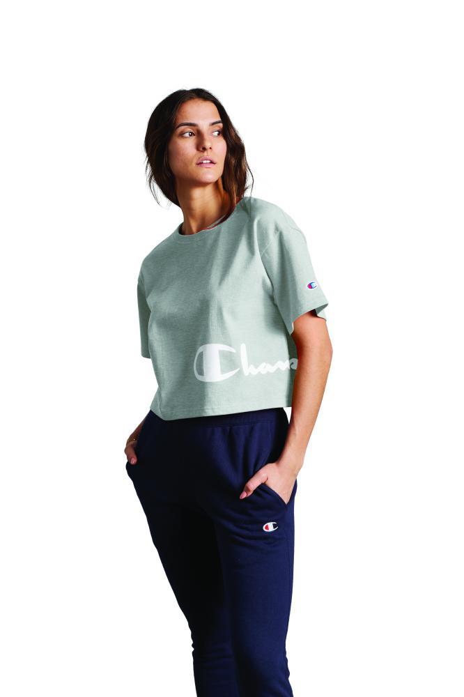 Polo Para Mujer Champion Heritage Cropped Tee Graphic 806 The Box Peru
