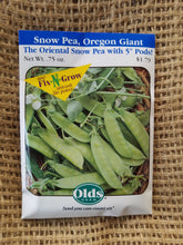 Load image into Gallery viewer, Snow Pea - Oregan Giant