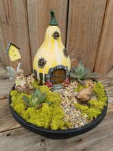 Load image into Gallery viewer, Fairy Garden Kit with Lighted Gourd House
