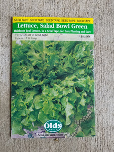 Lettuce - Salad Bowl Green (Seed Tape)