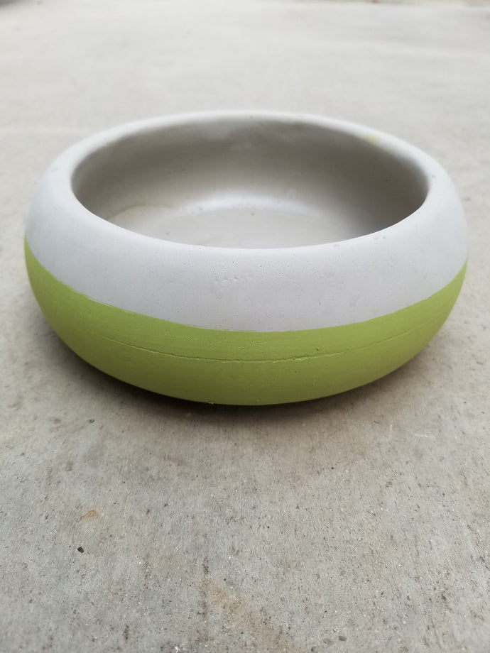 Small Cement Green Low Bowl