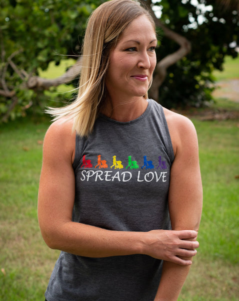 Stroller Strong Moms Spread Love High Neck Tank