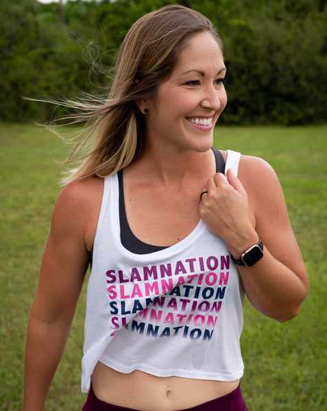 SLAM Nation Color Fade Scoop Neck Boxy Crop