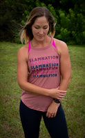 SLAM Nation Color Fade Trendy High Ribbed Neck Tank