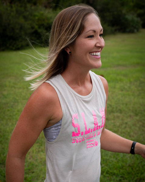 Sweat Like a Mother Iconic Logo Gradient Muscle Tank