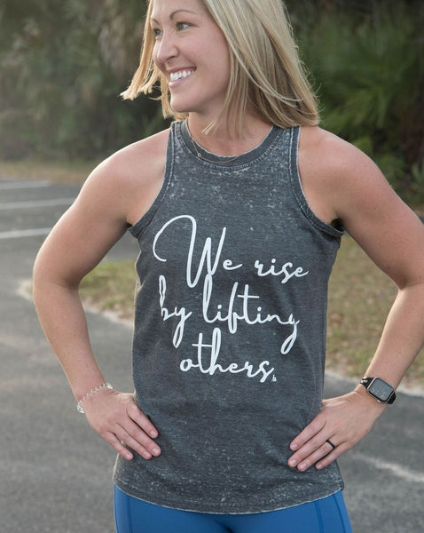 Stroller Strong Moms We Rise By Lifting Others Burnout Tank