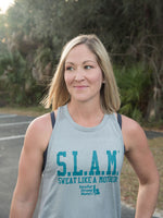 Sweat Like a Mother Iconic Logo Jade Green Performance High Neck Tank