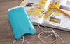 NueVue iPhone 8 / 7 Plus blue vegan leather case lifestyle 1
